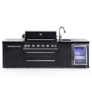 CAESAR 6 BLACK EDITION מטבח חוץ מודולרי מנירוסטה שחורה