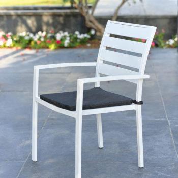כסא אלומיניום JOY צבע לבן