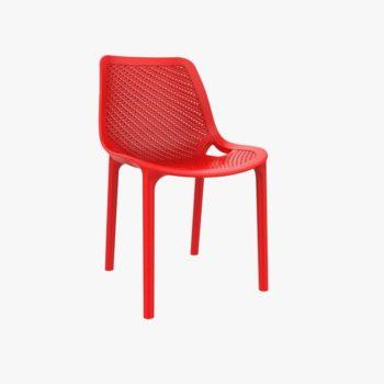 כסא פלסטיק יצוק צבע אדום